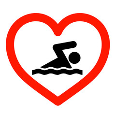 I love swimming sign