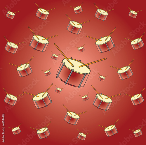 drum on brown background