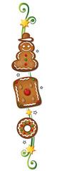 Lebkuchen, Spekulatius, Ranke, Weihnachten