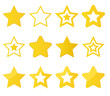 collection of vector stars