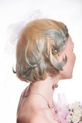 Невеста отвернулась, фото в студии