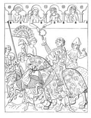 Joust Winner : getting his Price - 13th century