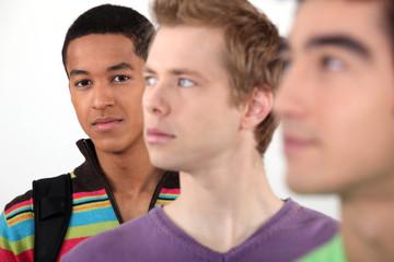 Three male university students