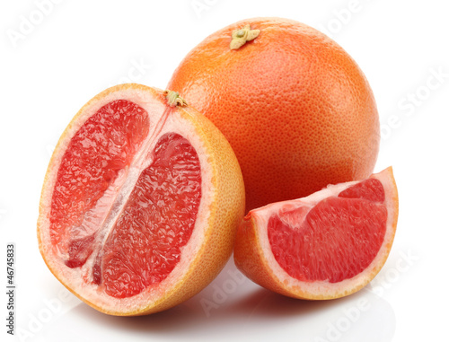Slice Grapefruit and Half Grapefruit