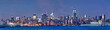 Panorama de Manhattan, heure bleue - New York