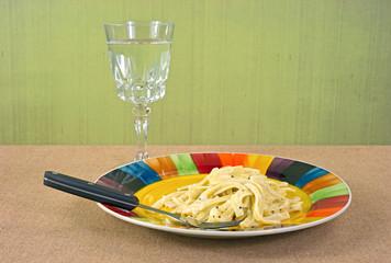 Fettuccine Alfredo TV dinner