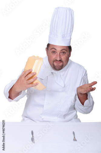 Chef confused by fast-food packaging