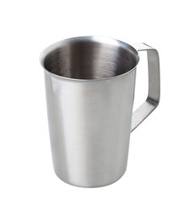 Silver metal measuring cup for general use