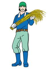 稲作農家の若者