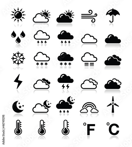 Weather icons set - vector