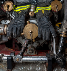 Fire Gloves and Fire Truck