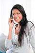 Smiling girl on mobile