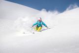 Fototapete Alphütte - Alps - Wintersport