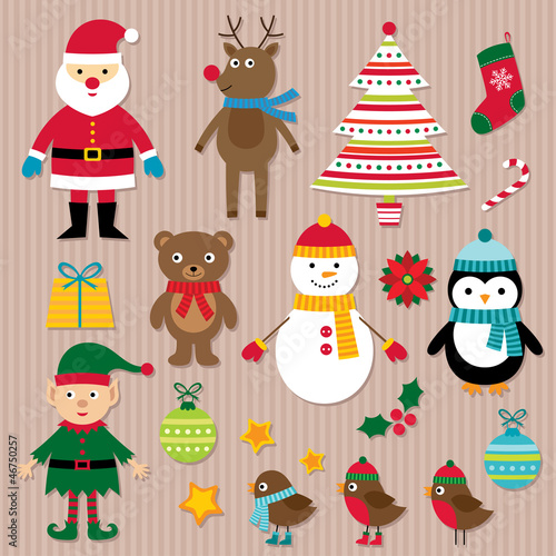 Chrisrmas design elements vector set