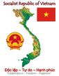 Vietnam Asia national emblem map symbol motto