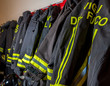 Fireproof suits in the firehouse