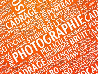 photographie - nuage de tags
