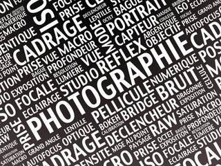 nuage de mots : photographie
