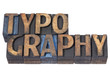 typography word in wood type