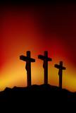 Fototapety Three crosses