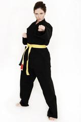 Frau macht Kampfsport