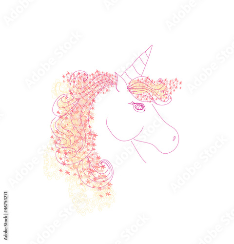 Vector Illustration of beautiful Unicorn