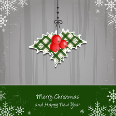 Merry Christmas and Happy New Year - mistletoe