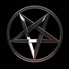 Metallic pentagram
