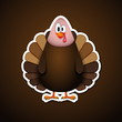 Cute cartoon Thanksgiving turkey - vector