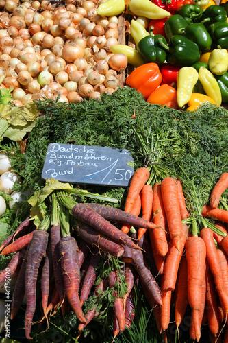Marketplace - farmer's market in Mainz, Germany