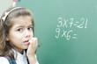 Confused Schoolgirl Thinking