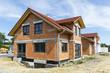 Leinwanddruck Bild - Neubaugebiet einer Wohnsiedlung