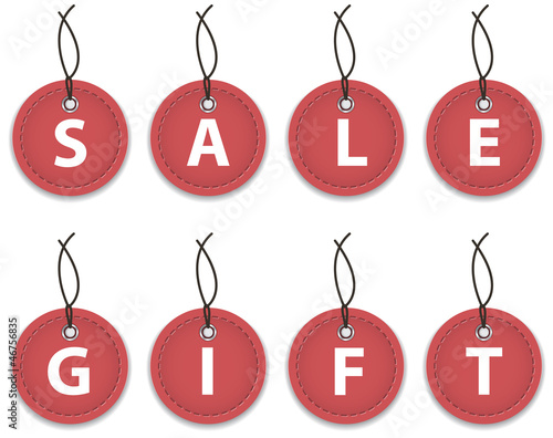 Sale and gift labels