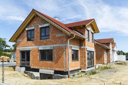 Leinwanddruck Bild Neubaugebiet einer Wohnsiedlung