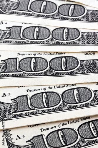 Dollar Geldscheine. Detail