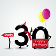30 birthday funny numbers card