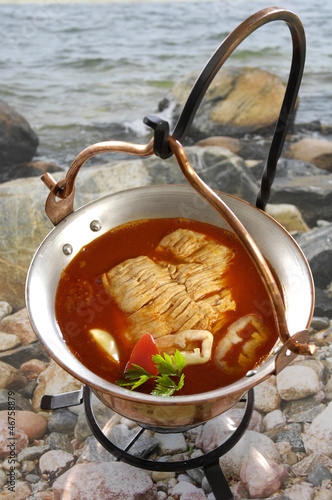 fish chowder from Hungary (lake Balaton)