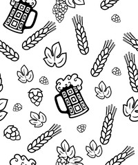 Beer background - seamless