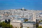 Paris, France. Sacre-Coeur Basilica. View from Notre Dame