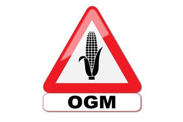 Panneau attention OGM