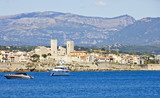 View of Antibes from the sea, France