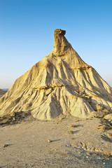 Semi-desert landscape in Bardenas Reales, Navarre, Spain