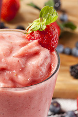 Fresh Organic Strawberry Smoothie