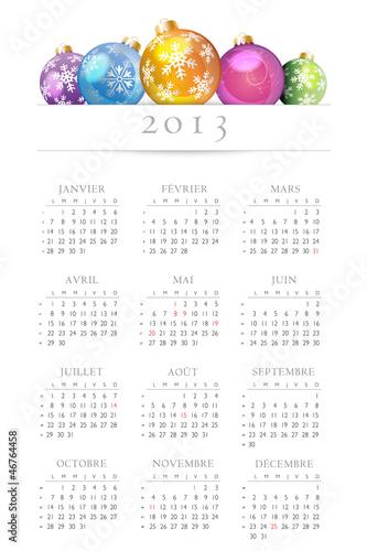 Calendrier 2013-Boules de Noël-vectorisé-1