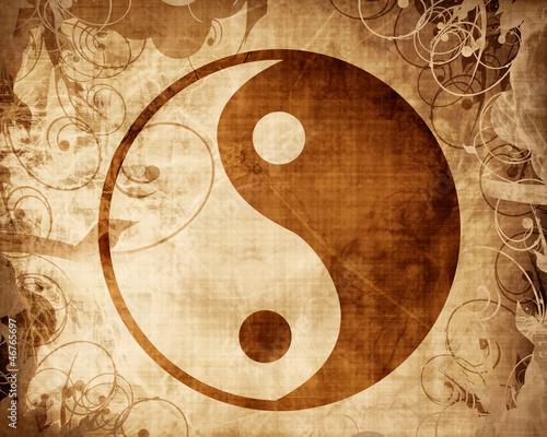 Obraz na Szkle Yin Yang sign