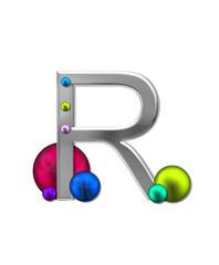 Alphabet Metal Marbles R