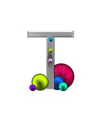 Alphabet Metal Marbles T