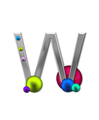 Alphabet Metal Marbles W