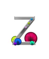 Alphabet Metal Marbles Z