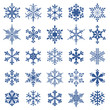collection of 25 snowflakes - 46766661